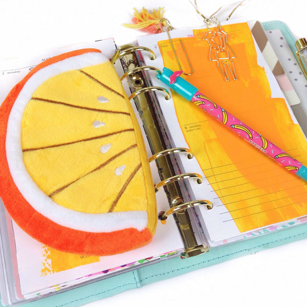 Orange Pouch - Unicorn Planner