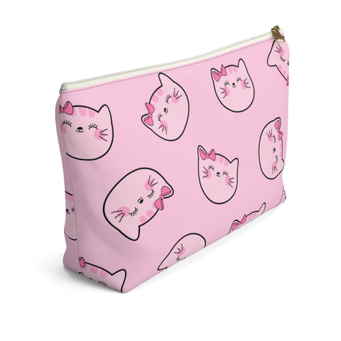 Kitty Cotton Face Pouch