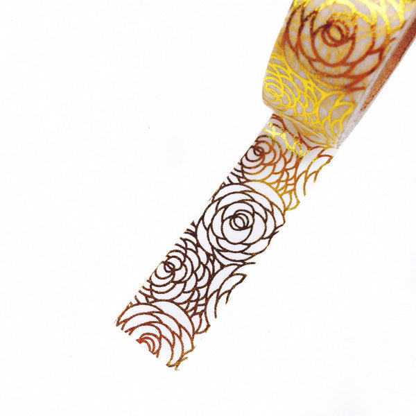 One rold of gold foil floral washi tape