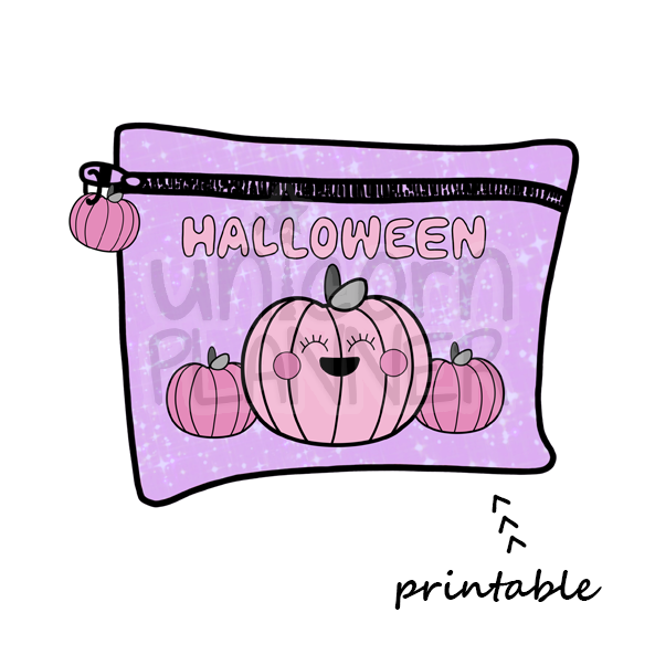 Planner Pouch - Halloween Printable Die Cut (DIGITAL DOWNLOAD)