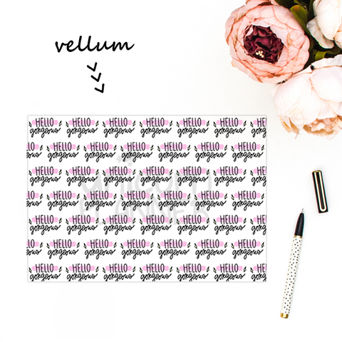 Hello Gorgeous (VELLUM)