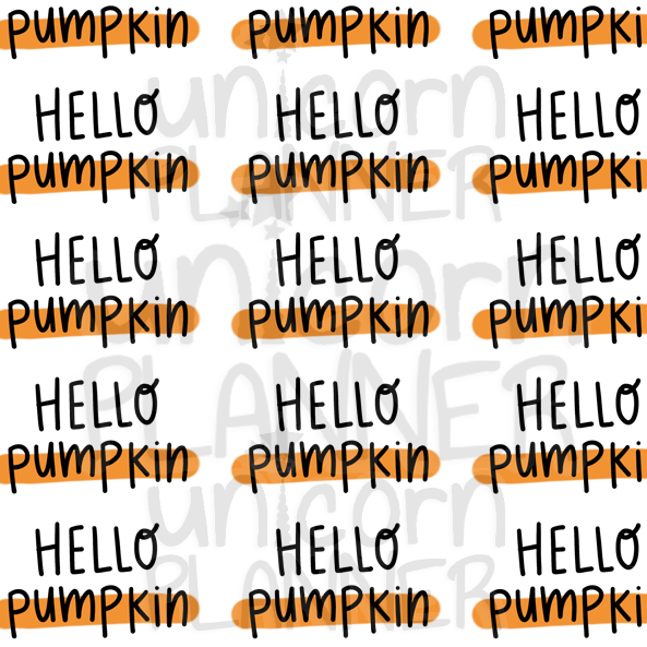Hello Pumpkin Printable Paper (DIGITAL DOWNLOAD)