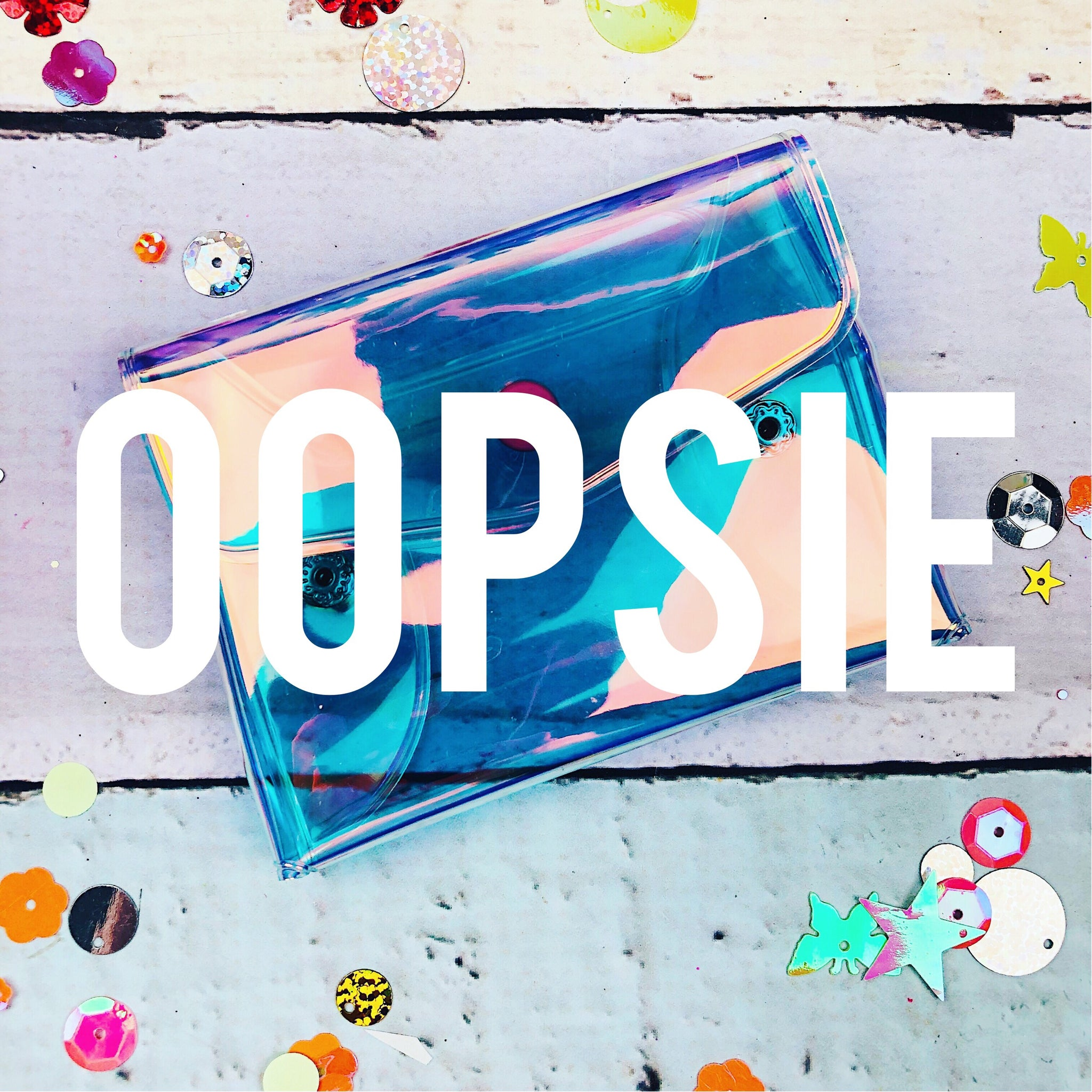 OOPSIE Iridescent Card Pouch