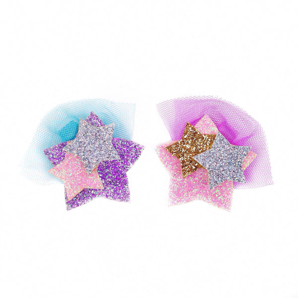 Tulle Shooting Star Bow Clip