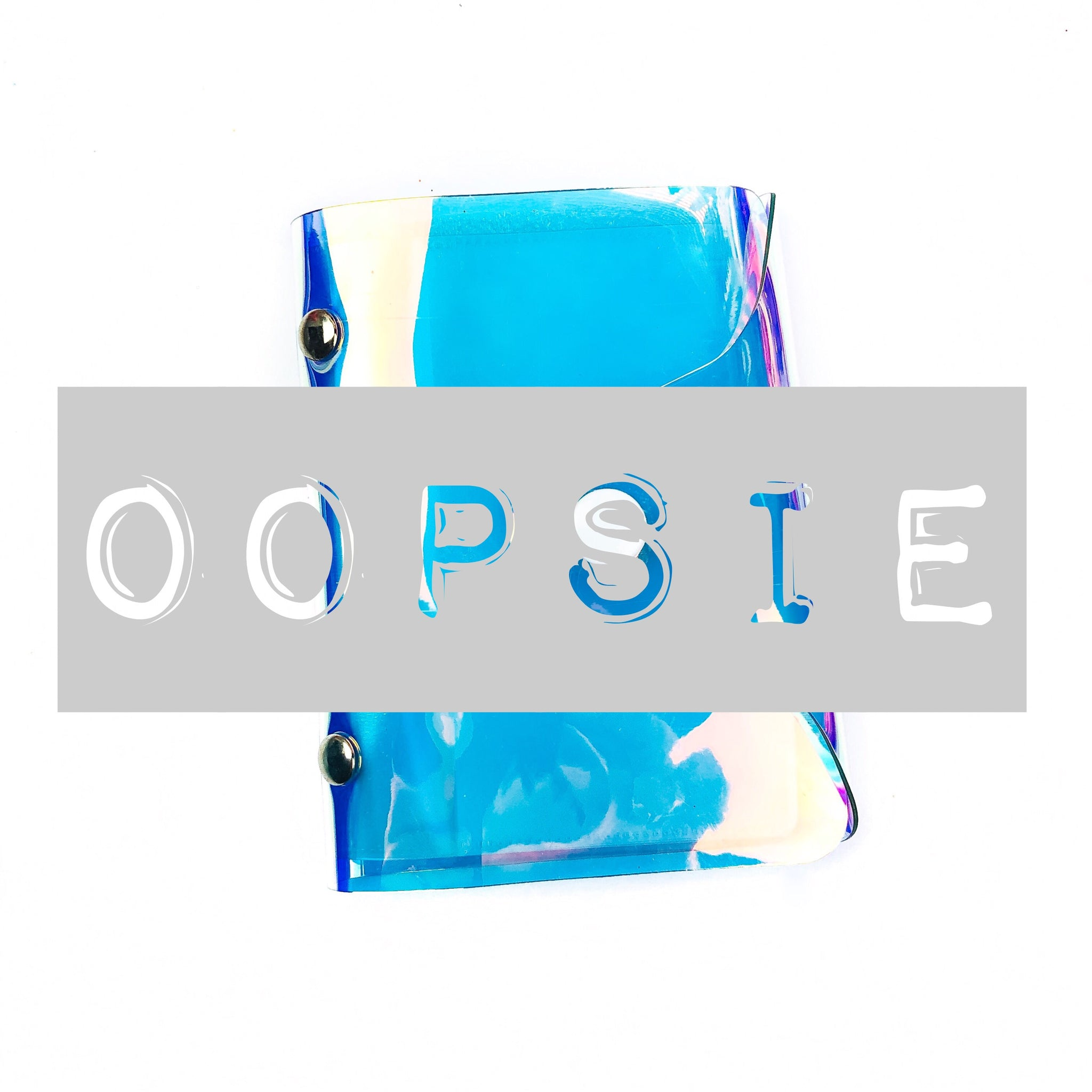 Oopsie Iridescent Washi Wallet