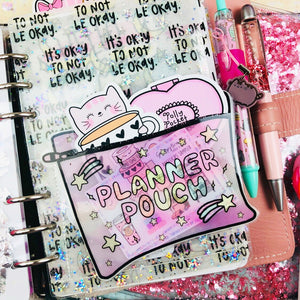 Paper Planner Pouch - Laminated (PREMADE)