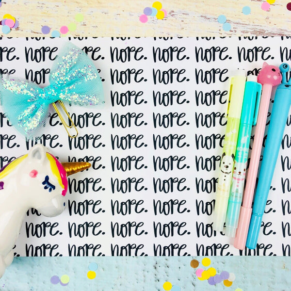Nope Printable Paper (DIGITAL DOWNLOAD)