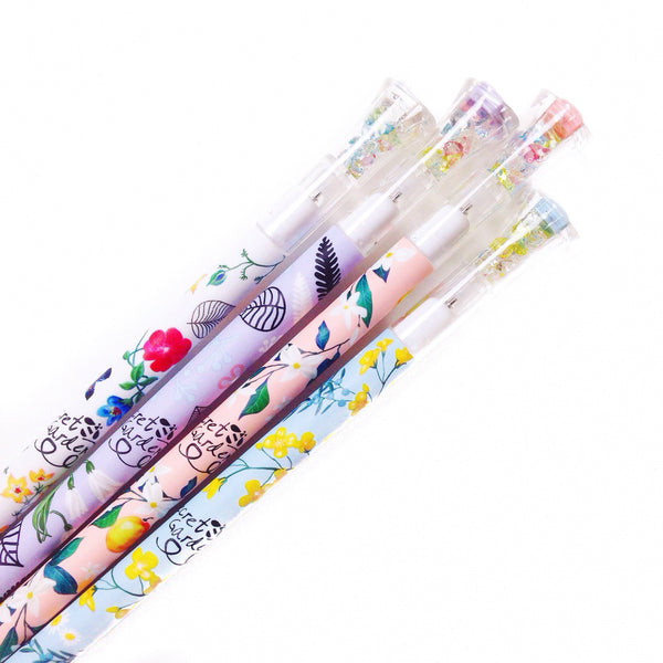 Floral Gel Ink Pen