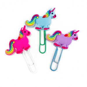 Jelly Unicorn Paper Clip
