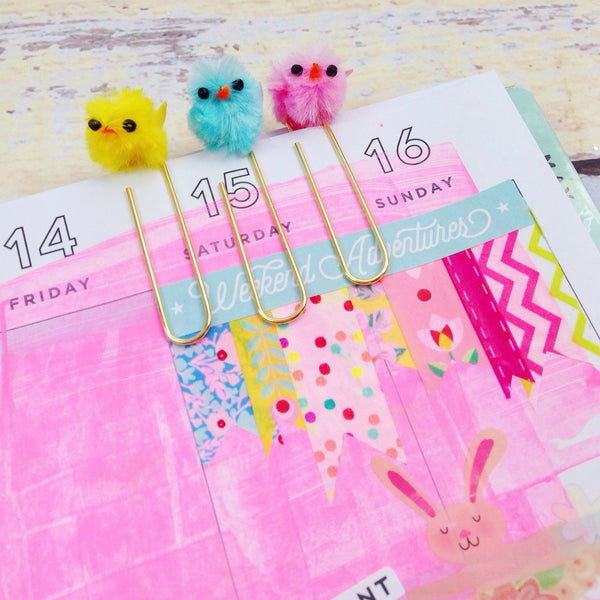 Easter Chick Paper Clip