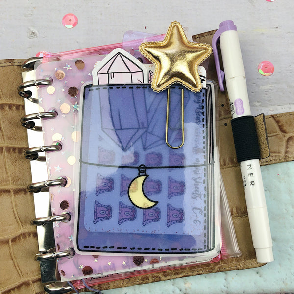 TN Paper Planner Pouch - Purple - Laminated (PREMADE)
