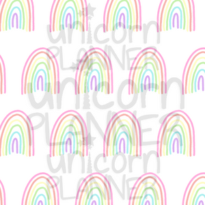 Pastel Rainbows Printable Paper (DIGITAL DOWNLOAD)