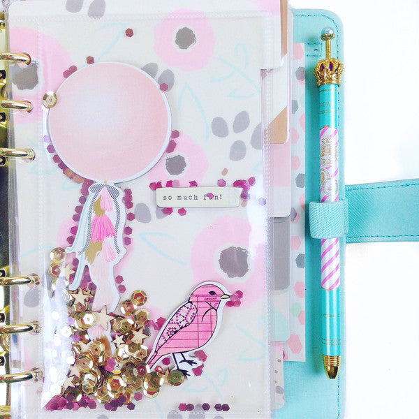 Crown Gel Ink Pen - Stripes - Unicorn Planner