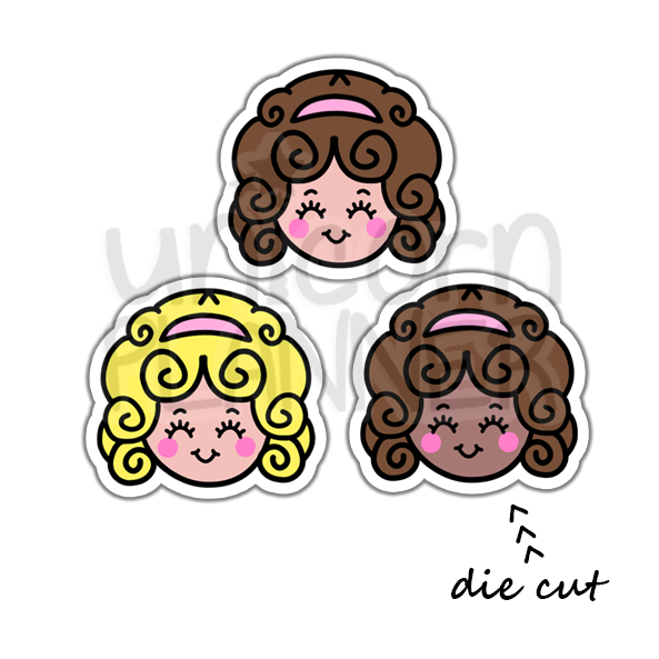 Polly Pocket Face (DIE CUT)