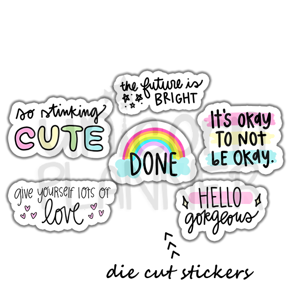 Quotes Die Cut Sticker Pack (STICKERS)