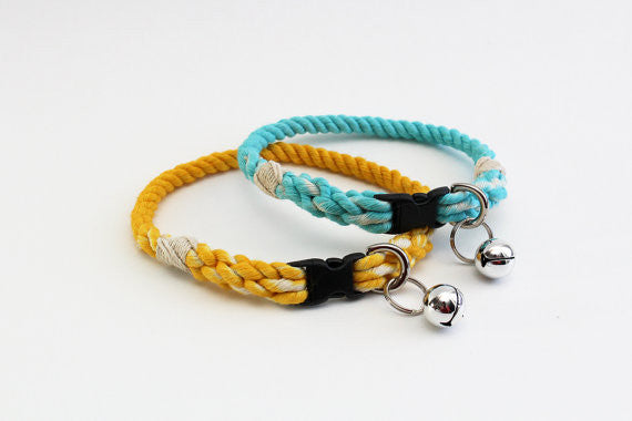 Ombre Rope Cat Collar