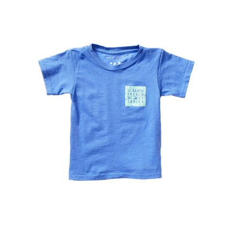 PAOLO UNISEX KID TEE GRAND BLEU