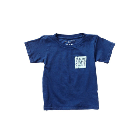 PAOLO UNISEX KID TEE FISHERMAN BLEU