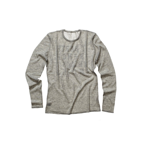 CASHMERE WOMEN CREW NECK PEBBLE GREY