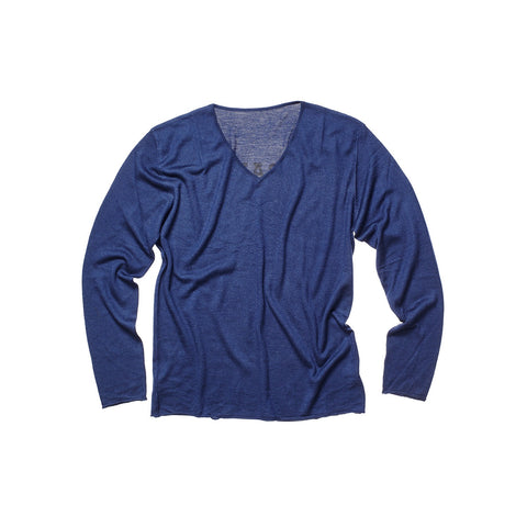 CASHMERE MEN V NECK NAVY