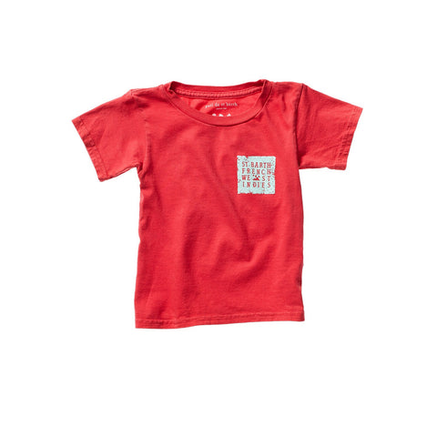 PAOLO UNISEX KID TEE RED ARTIST