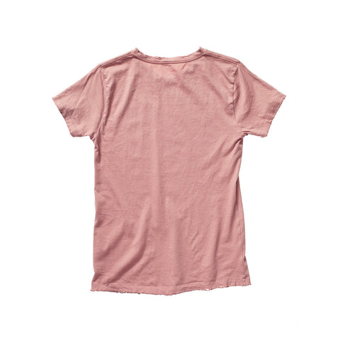 FRANÇOIS DISTRESSED TEE IN DUSTY ROSE