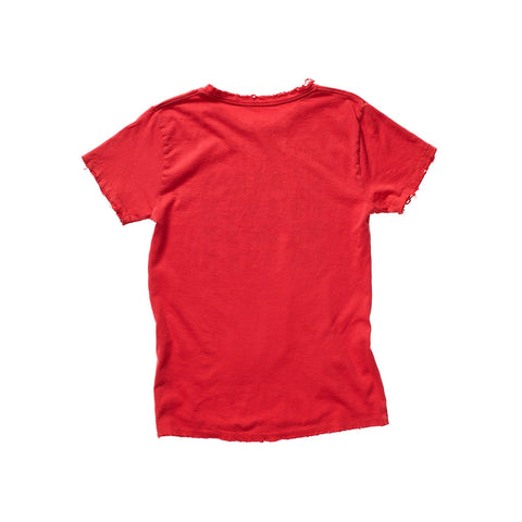 FRANÇOIS DISTRESSED TEE RED ARTIST