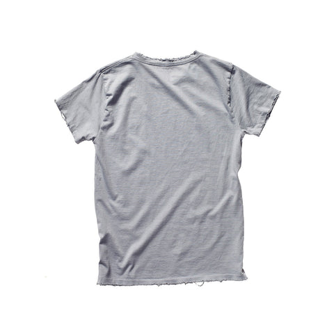 FRANÇOIS DISTRESSED TEE PEBBLE GREY