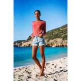 CASHMERE WOMEN CREW NECK DUSTY ROSE - Pati De St Barth