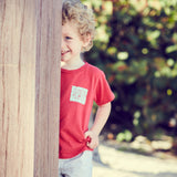 PAOLO UNISEX KID TEE RED ARTIST - Pati De St Barth