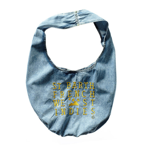 DENIM BAG YELLOW LOGO