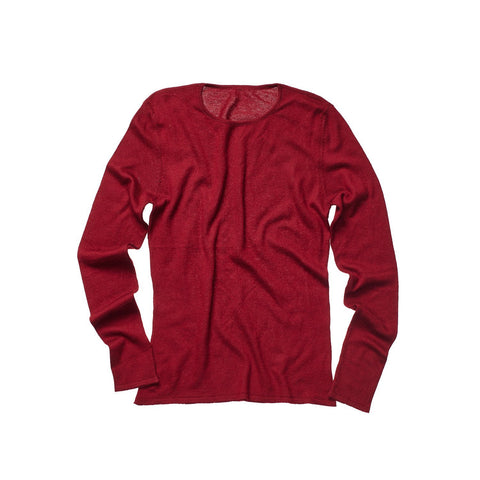 CASHMERE WOMEN CREW NECK BURGUNDY