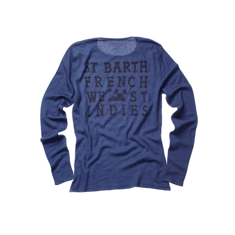 CASHMERE WOMEN CREW NECK NAVY