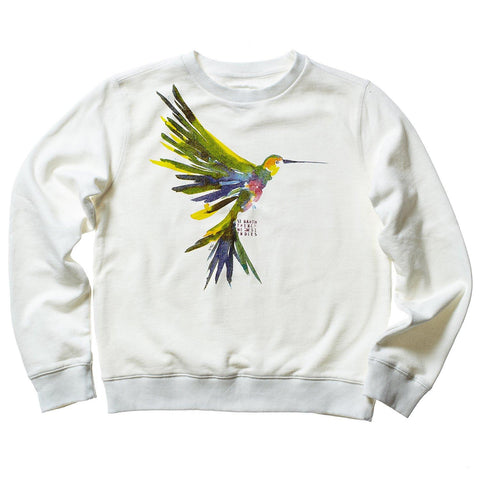 AQUARELLE WOMEN SWEAT HUMMINGBIRD
