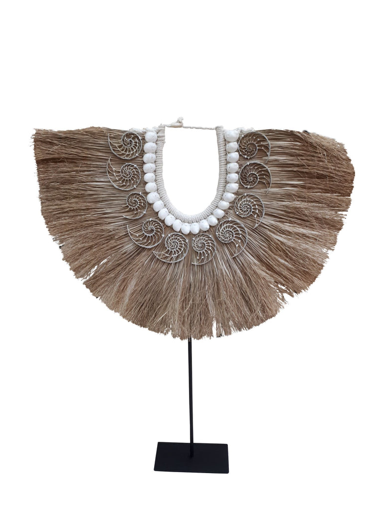 Natural Raffia Tribal Necklace