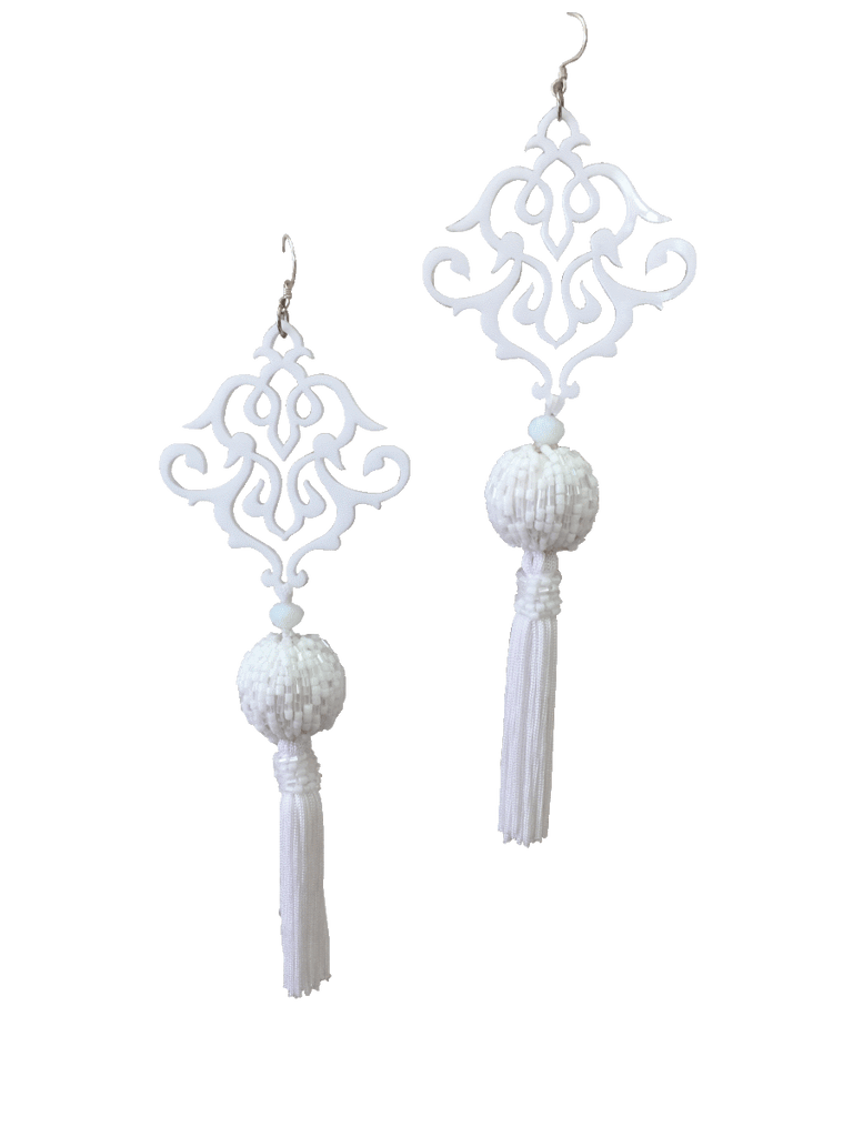 Nephthys Earrings - White