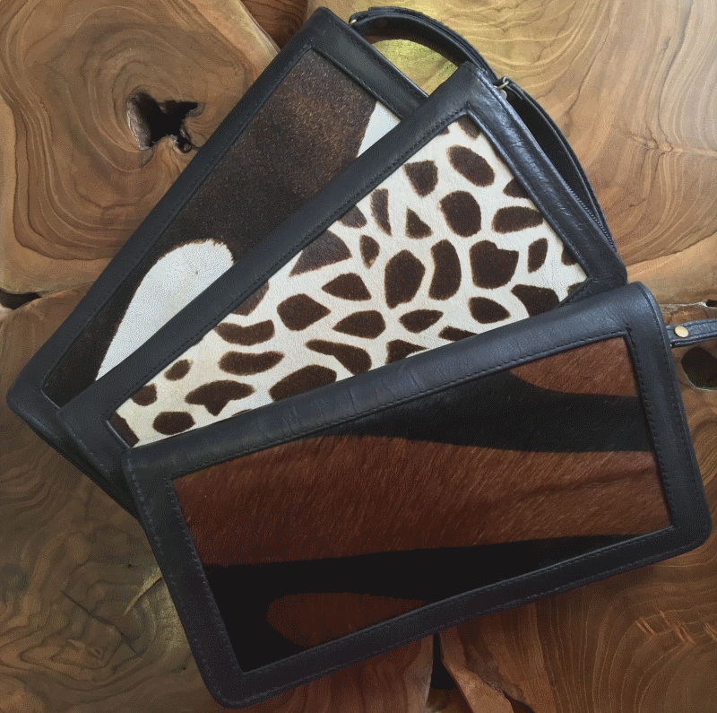 Printed Cow Hide & Leather Travel Wallet - a lifetime investment and so convenient
