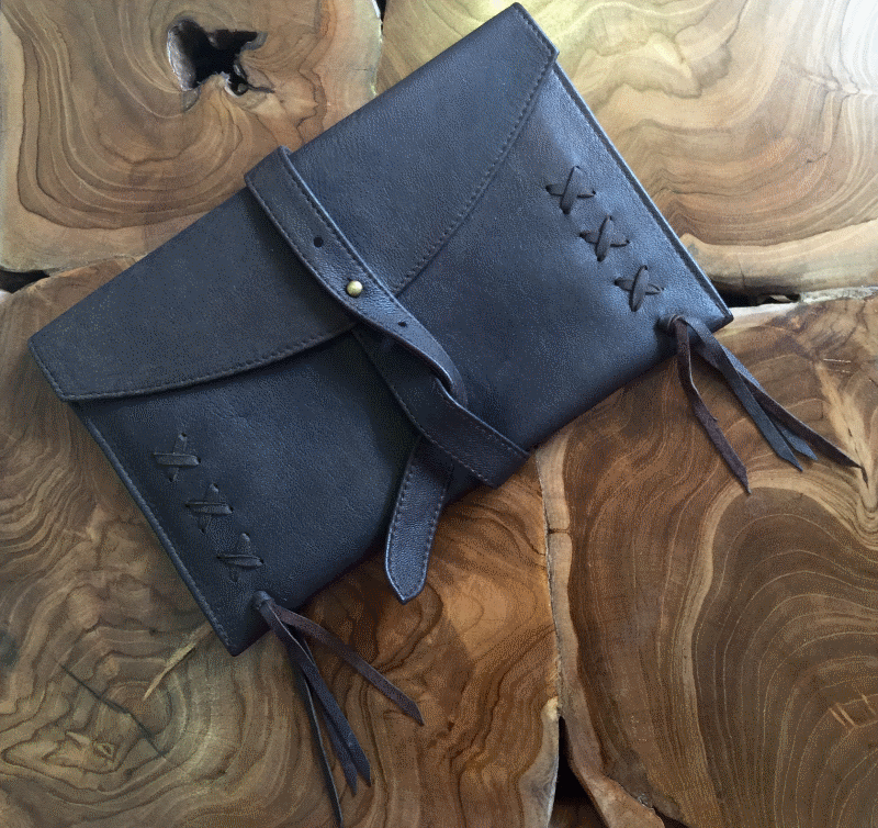 Nappa Travel Wallet in beautiful soft nappa leather and a wrap around strap