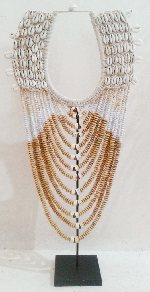 New Life Shell & Beaded Tribal Necklace - Natural