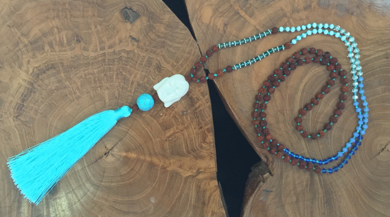 Beaded Seed Necklace With Buddha Face