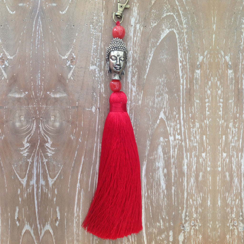 Buddha Head Key Ring or Bag Accessory
