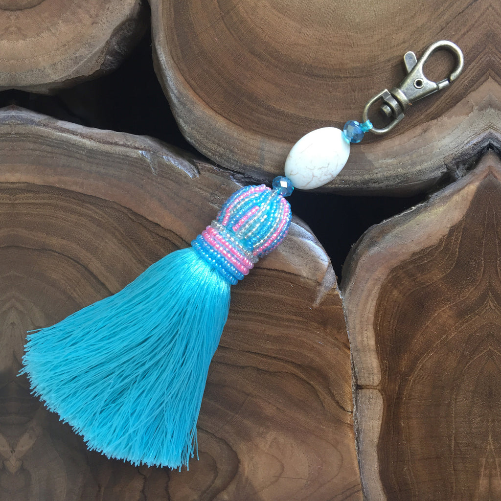 Beaded Crown Key Ring or Bag Accessory