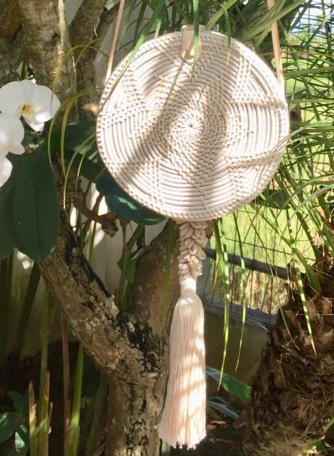 Cowrie Rattan Bag - Natural