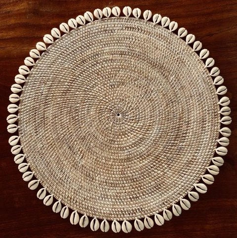 Rattan Placemat - Whitewashed