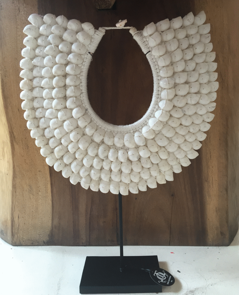 Liberated. White Shell Necklace. Simple and sleek design, totally hand made here in Bali