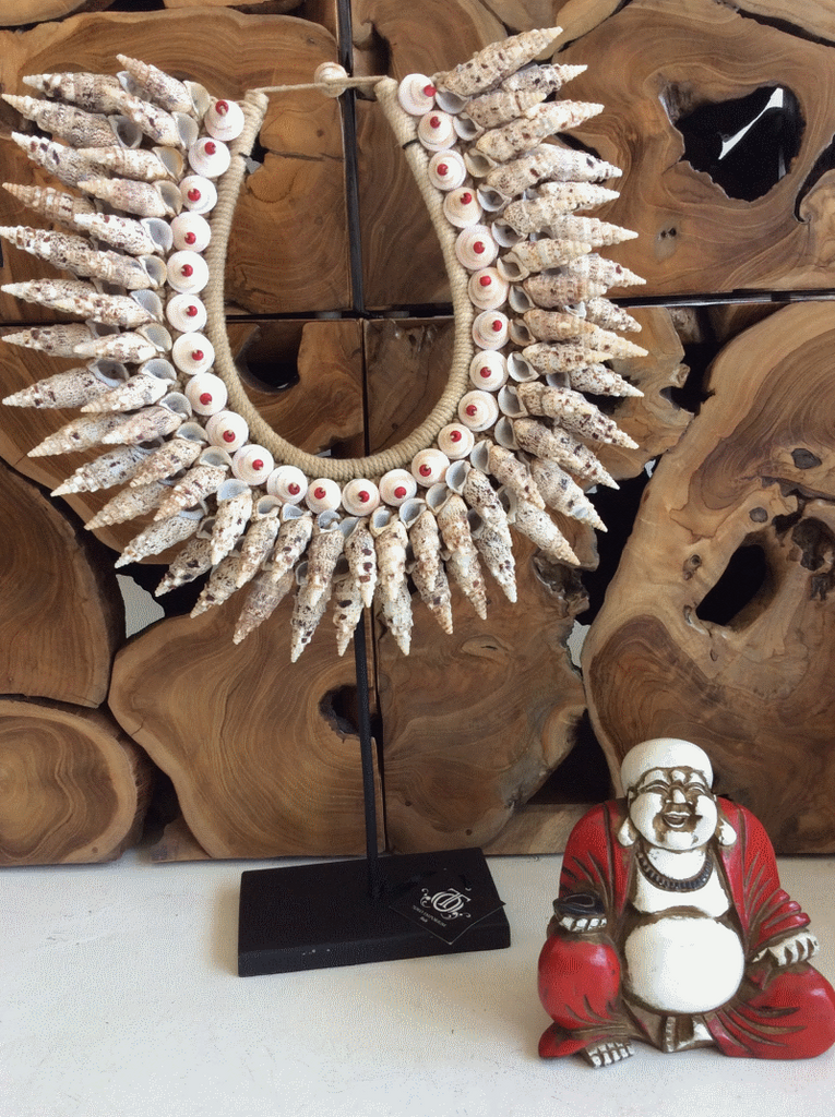 Spirited - Beautiful Shell and Bead Tribal Necklace