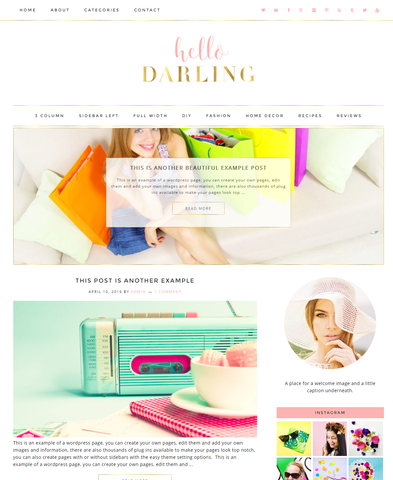 Responsive Wordpress Theme Darling