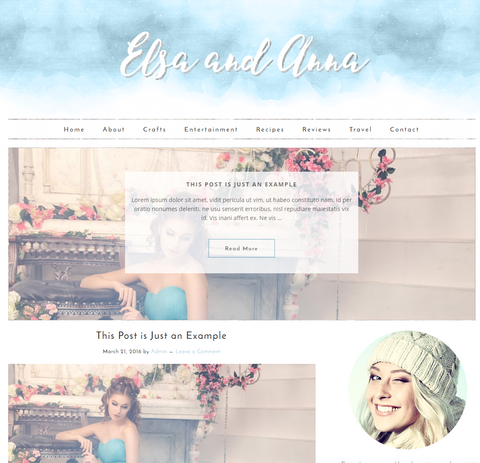 Responsive Wordpress Theme Elsa and Anna