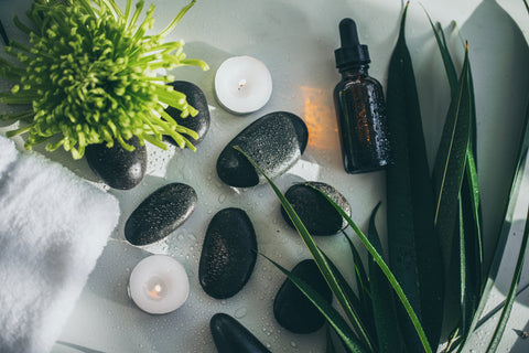 essential oil and spa relaxation