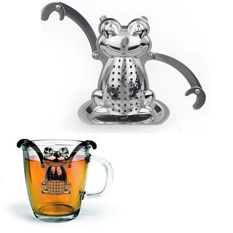 "Stainless Steel ""Rocket Frog Robot"" Tea Infuser - From Mothers Garden"